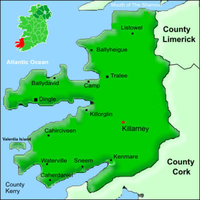 County Kerry Ireland Map Map of Kerry Ireland Maps County Kerry map
